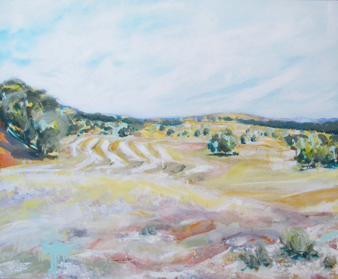 18 Minutes from Meckering - Acrylic on Canvas 76x91cm