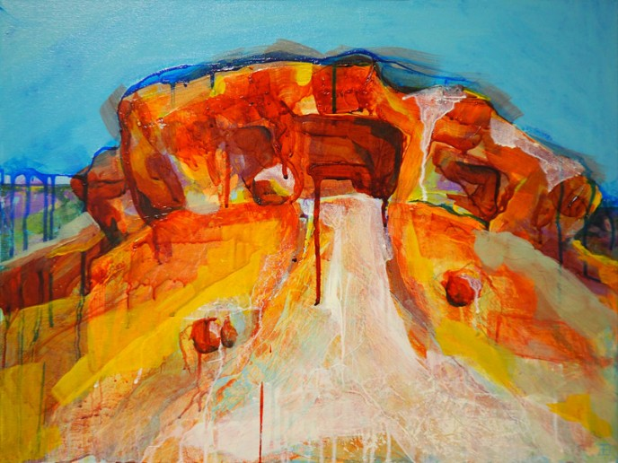 SOLD Caves, Mt Magnet - Acrylic on Canvas 45.5x61cm