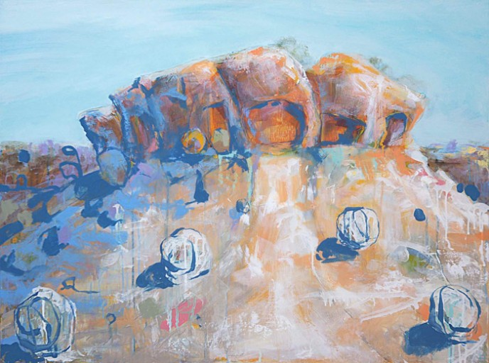 SOLD Caves - Mt Magnet - Acrylic on Canvas 76x101cm