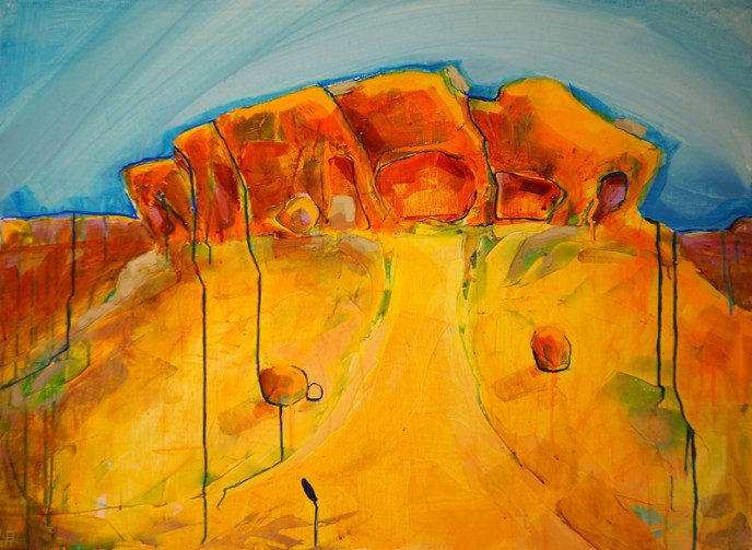 Caves2, Mt Magnet - Acrylic on Canvas 76x101cm