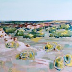 Coal Seam South - Mingenew - Acrylic and Aerosol on Canvas - 91x91cm