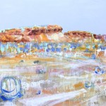 SOLD Desert Features - Acrylic on Canvas 83x111cm