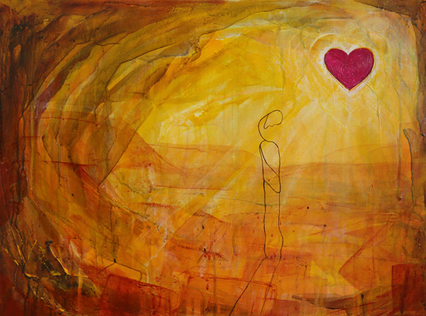SOLD Heart of our Country - Acrylic on Canvas  - 46x61cm