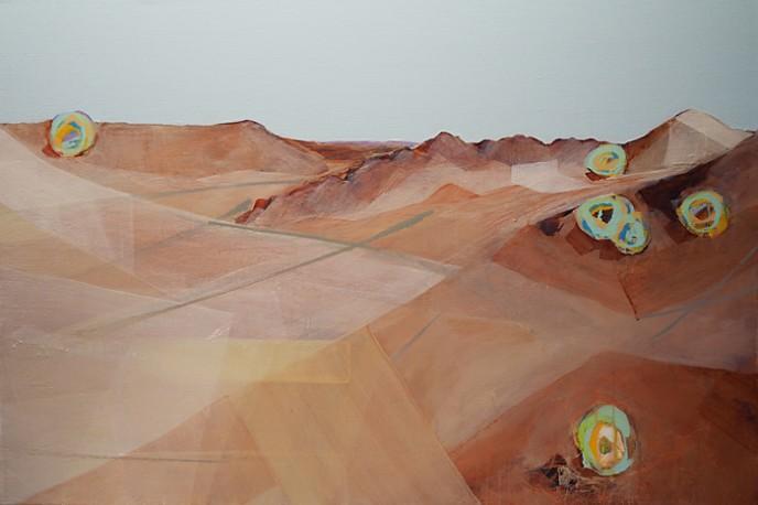 SOLD - Just Walked Away - Mt Magnet 61 x 91cm Aerosol & Acrylic on Linen