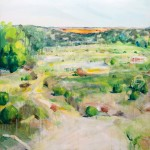 Picnic at River Bend, Mingenew - Acrylic on Canvas 91x91cm