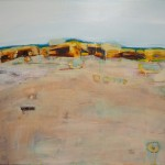 SOLD - Quartz Field, Mt Magnet - Acrylic & Aerosol on Canvas 76x101cm