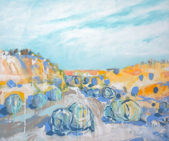 SOLD Rivers Bend – Acrylic on Canvas 76x91cm