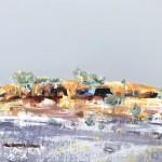 SOLD Rock Ledge - Acrylic on Canvas 60x71cm