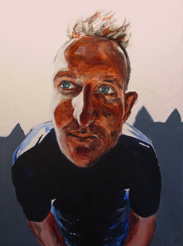 Self Portrait October 2014 - Acrylic on Canvas 610x460mm