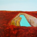 SOLD - Swimming Hole - Acrylic on Canvas  - 84x112cm - Winner Leonora Art Prize
