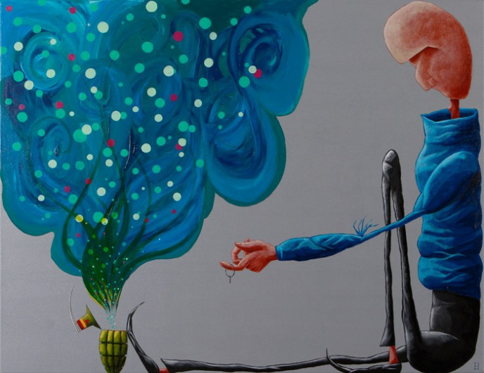SOLD The Colour of Surprise - Acrylic on Canvas 700x900mm