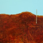 SOLD - Where the dirt meets the sky at the edge of town - Acrylic on Canvas  - 84x112cm